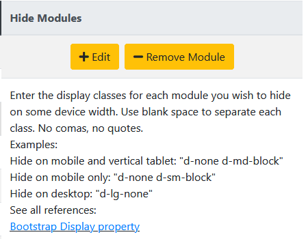 Hide Modules on different viewports