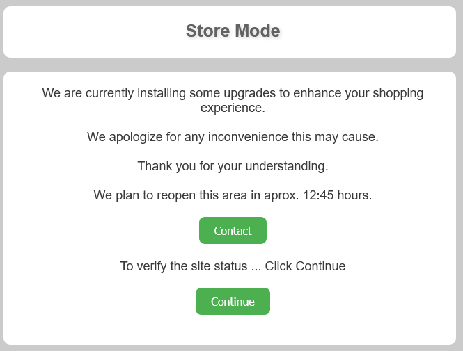 Store Mode